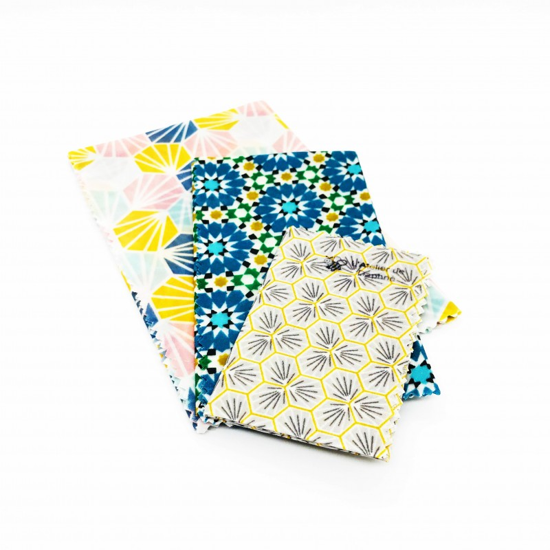 Lot de 3 bee wraps S-M-L